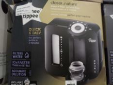 Rrp £70 Boxed Tommee Tippee Closer To Nature Perfect Preparation Bottle Warming Station In Black