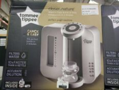 Rrp £70 Boxed Tommee Tippee Closer To Nature Perfect Preparation Bottle Warming Station In White