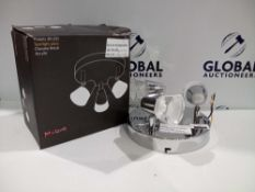 Rrp £240 Lot To Contain 2 Assorted Boxed And Unboxed John Lewis And Partners Polaris 3-Light Chrome