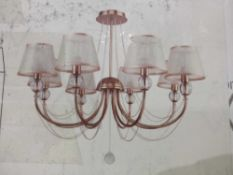 Rrp £120 Boxed Willa Arlo 8 Light Shaded Chandelier Style Ceiling Light