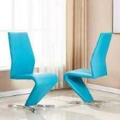 RRP £210 Boxed Set Of 2 Gia 68X46X102 Patrol Dining Chairs