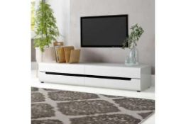 """RRP £360 Metro Lane Tv Stand For Tvs Up To 77"""" White High Gloss (18107)"""