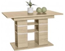 RRP £220 Boxed Pixel Sonoma Eiche 120-160X75X80Cm Table