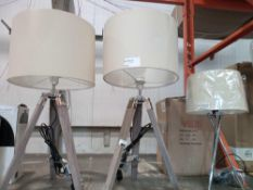 RRP £35 Each Assorted Boxed And Unboxed Designer Lighting Items To Include A Metal Base Fabric Shade