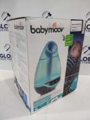 RRP £80 Boxed Babymoov Hygro + Whisper Quiet And Programmable Humidifier In Cool Blue