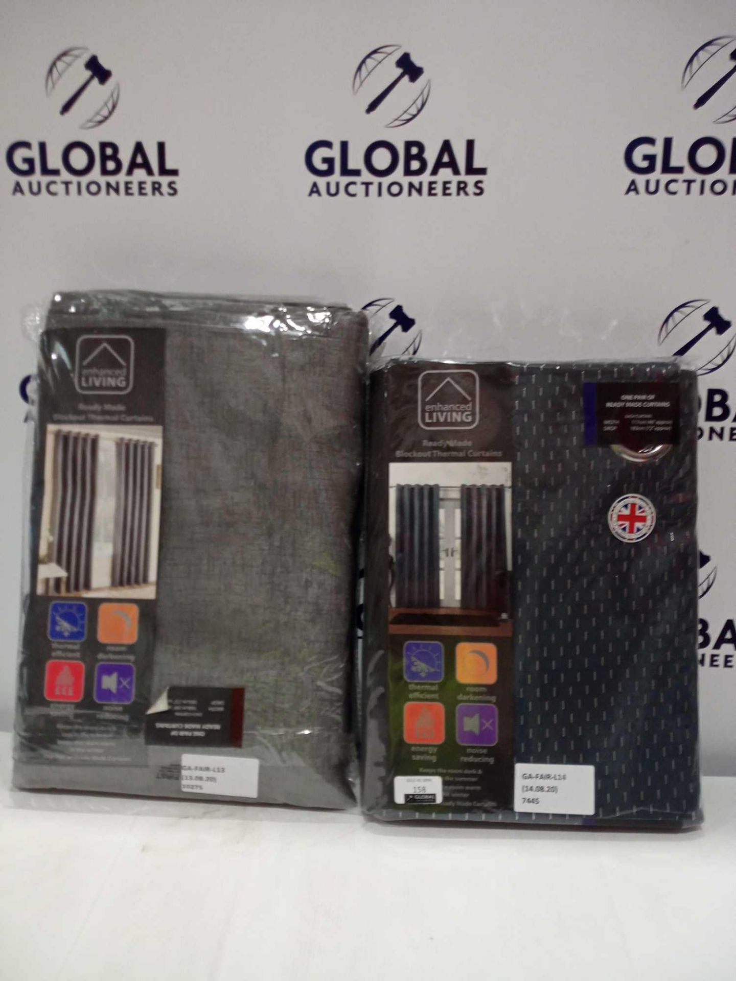 Lot 158 - RRP £50 Bagged Assorted Enhanced Living Ready-Made Curtains