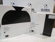 RRP £45 To £55 Each Boxed Assorted John Lewis And Partners Designer Lighting Items To Include A Tit