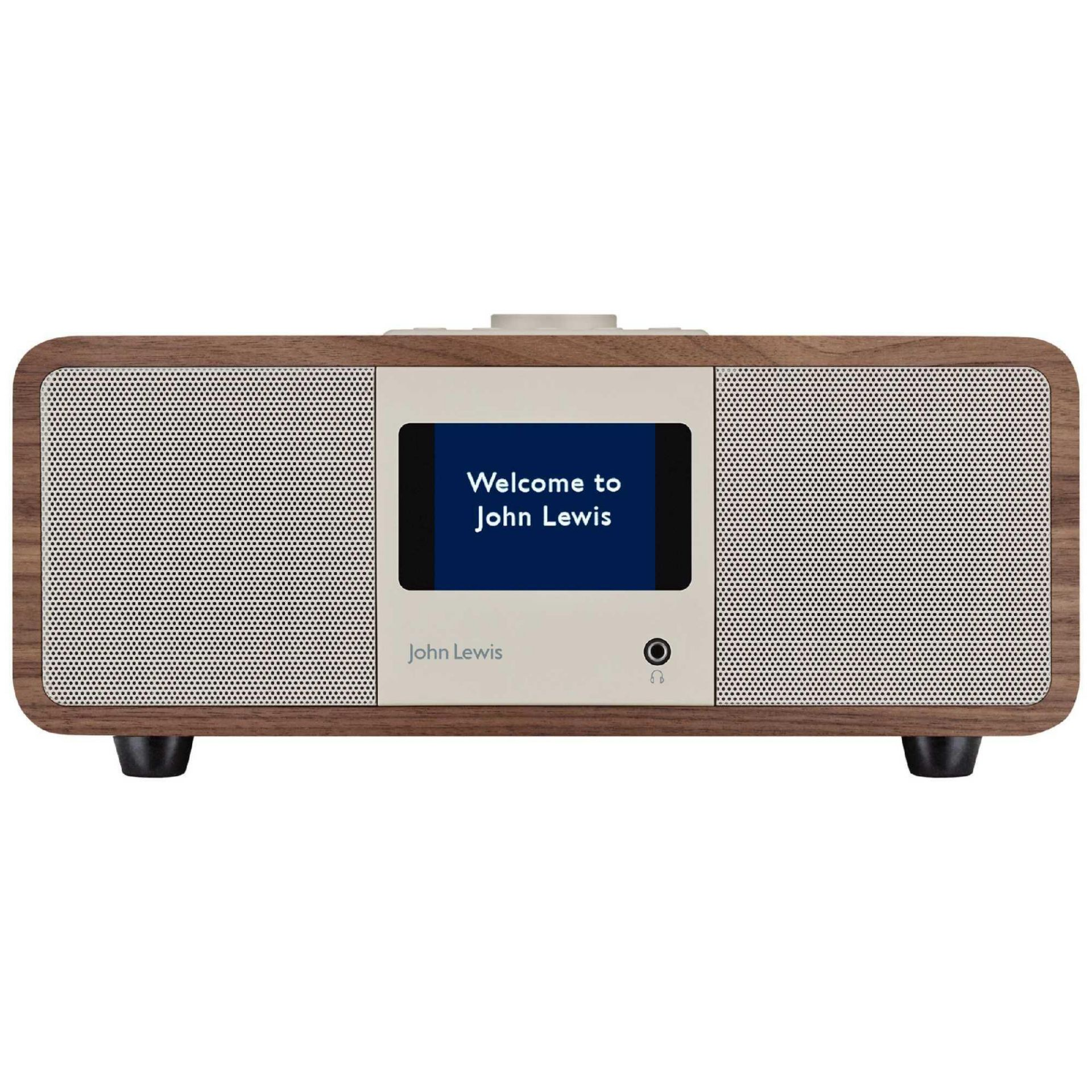 Lot 51 - RRP£200 Boxed John Lewis Cello Hi Fi Music System/Dab Radio With Built In Cd Player Wood Effect Desi