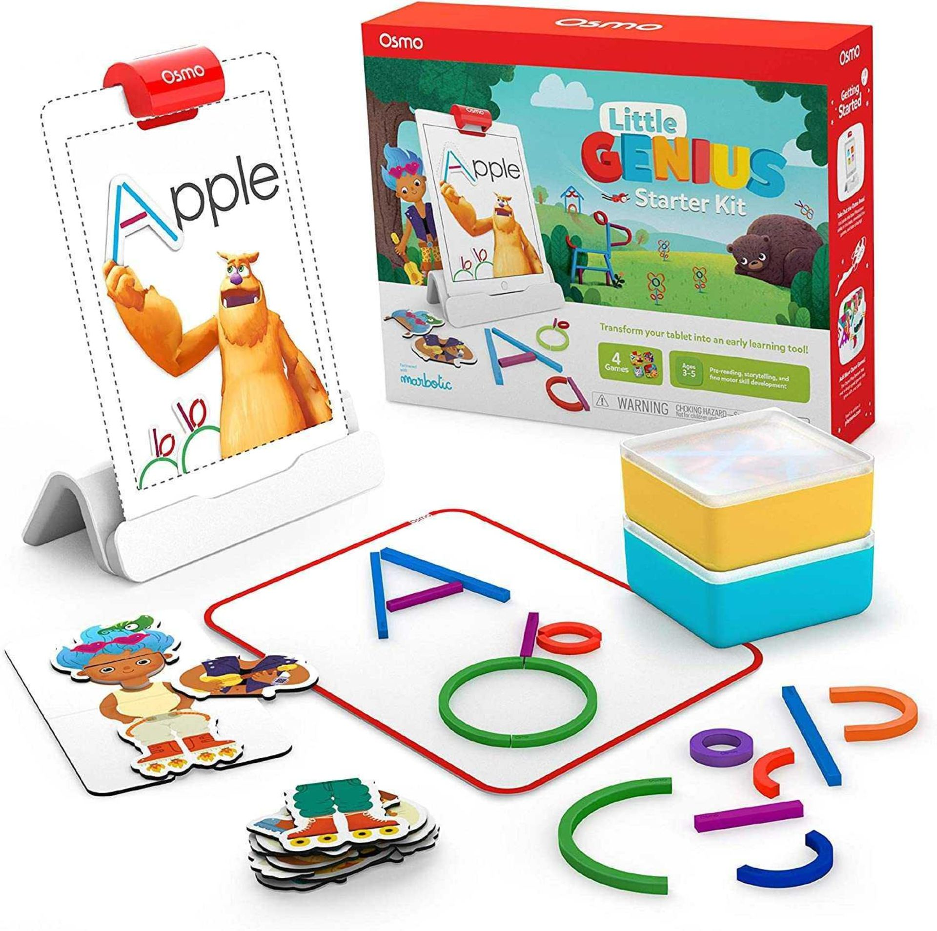 Lot 82 - RRP £120 Boxed Osmo Little Genius Starter Kit, Transform Your Tablet Into An Early Learning Tool