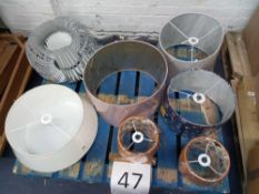 Rrp £350 Pallet To Contain A Large Assortment Of John Lewis High End Designer Lamp Shades(Appraisals