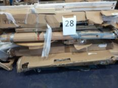 Pallet To Contain An Assortment Of Flatpack Furniture Part Lots To Include Wooden Slats, Table Tops,