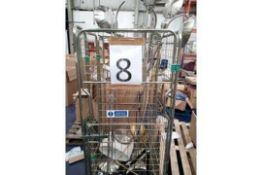 RRP £700 Cage To Contain 7 Unboxed John Lewis Assorted Floor Standing Lamps(Appraisals Available