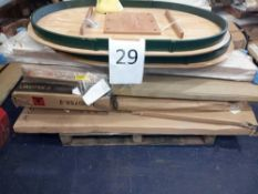 Pallet To Contain An Assortment Of Flatpacked Furniture Part Lots To Include Solid Oak Table Tops,
