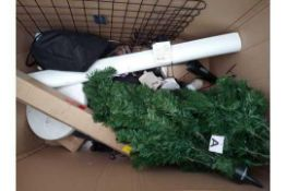 RRP £400 Pallet To Contain A Large Assortment Of Items To Include Christmas Tree, Cocoon Bag, Coat