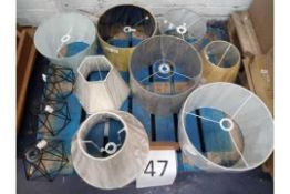 RRP £350 Pallet To Contain A Large Assortment Of John Lewis High End Designer Lamp Shades