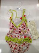 RRP £100 Lot To Contain 20 Brand New Playshoes Chidlrens Floral 2Pc Swim Sets