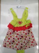 RRP £100 Lot To Contain 20 Brand New Playshoes Floral Children'S All In One Swimsuits