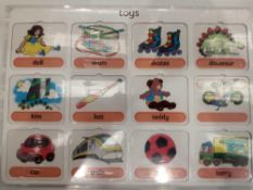 RRP £150 Lot To Contain 25 Brand New Willis Educational Toys Vocabulary Boards(Appraisals