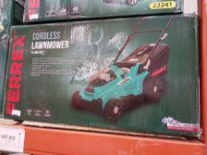 Rrp £80 Boxed Ferrex 40V Li-Ion Cordless Lawnmower