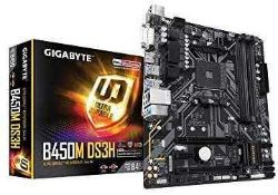 Rrp £70 Boxed Gigabyte B450M Ds3H Ultra Durable Motherboard