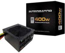 Rrp £55 Boxed Aerocool 400W Integrator Professional Power Supply