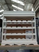 Rrp £50 Boxed White Wooden 24 Bottle Wine Rack
