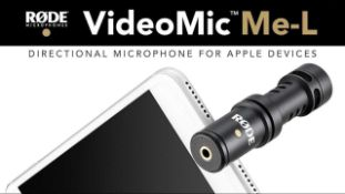 Rrp £70 Boxed Rode Video Mic Me-L Directional Microphone For Apple Devices
