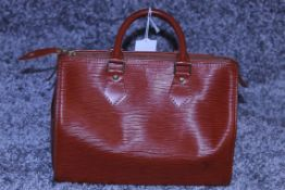 Rrp £1,000 Louis Vuitton Speedy 25 Handbag, Tan Epi Calf Leather 27X19X15Cm (Production Code Vi1922)
