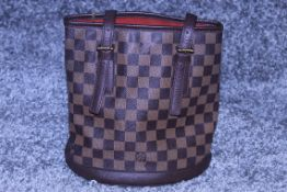 RRP £1,200 Louis Vuitton Marais Handbag, Brown Coated Canvas 23x24x16cm (Production Code SP0013)