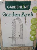 Combined Rrp £50 To Boxed Garden Line Garden Arches