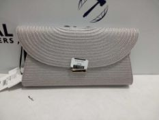 Rrp £80 Lot To Contain Two Brand New Jasper Conran Grey Pleated Ladies Designer Purses