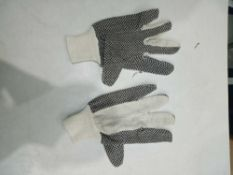 RRP £100 Lot To Contain 50 Brand New Pairs Of Polka Dot Work Wear Gloves (Appraisals Available On