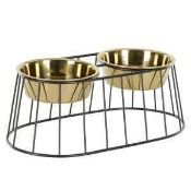 RRP £55 Rex Large Double Pet Bowl Stand