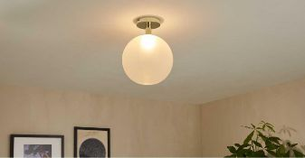 RRP £138 Lot To Include Pedamt Lamp & Ceiling Light
