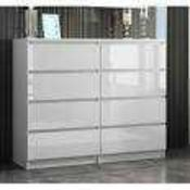 Rrp £240 Boxed Zipcode Design Abril 8 Drawer Chest Of Drawers