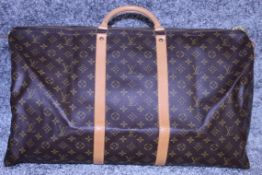 Rrp £1,800 Louis Vuitton Keepall 60 Travel Bag Monogram Canvas, Vachetta Handles, 60X26X31Cm (
