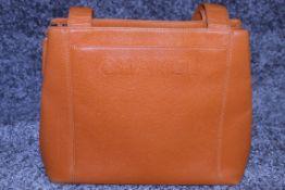 RRP £3,500 Chanel Orange Calf Leather Handbag, Caviar Leather, Orange Leather Straps, 29X25X12Cm (