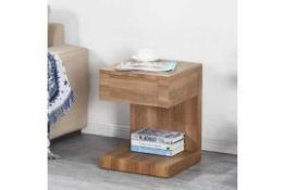 RRP £130 Boxed Dixon Paper Black 1 Drawer Bedside Table