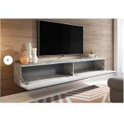 "RRP £185 Boxed Metro Lane Pina 78"" Concrete Tv Stand"