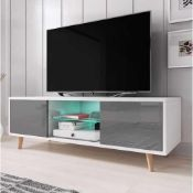 """RRP £140 Boxed George Oliver 55"""" Desert Palms Tv Stand"""