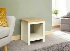 RRP £55 Boxed Gfw Lancaster Cream Side Table