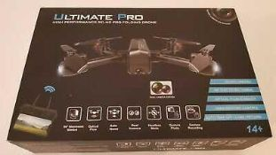 RRP £100 Boxed Ultimate Pro High-Performance Rc Hd Pro Folding Drone