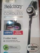 RRP £180 Boxed Beldray Airgility Plus Cordless Platinum Edition Vacuum Cleaner