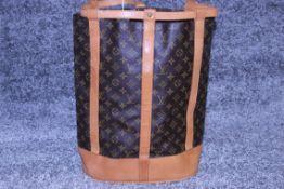 RRP £1,800 Louis Vuitton Randonnee Shoulder Bag, Brown Monogram Coated Canvas, Vachetta Handles, (