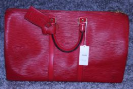 RRP £1,400 Louis Vuitton Keepall 45 Travel Bag, Red Calf Red Epi Leather, 48x28x20cm, (Production