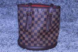 RRP £1,200 Louis Vuitton Marais Handbag, Brown Coated Canvas 23x24x16cm (Production Code SP0013)