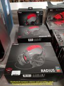Combined RRP £60 - 3 X TRUST RADIUS MULTI PLATFORM GAMING HEADSETS