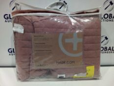 RRP £100 Bagged Musty Pink Designer Bed Spread