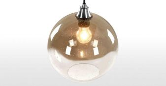 Combined RRP £80 Lot To Contain 2 Assorted Shades To Include Edna Glass And Ilaria Pendant Shade