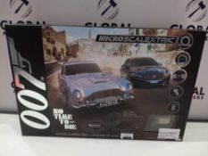 RRP £50 Boxed 007 Micro Scalextric No Time To Die Aston Martin Db5 Vs Jaguar Xf